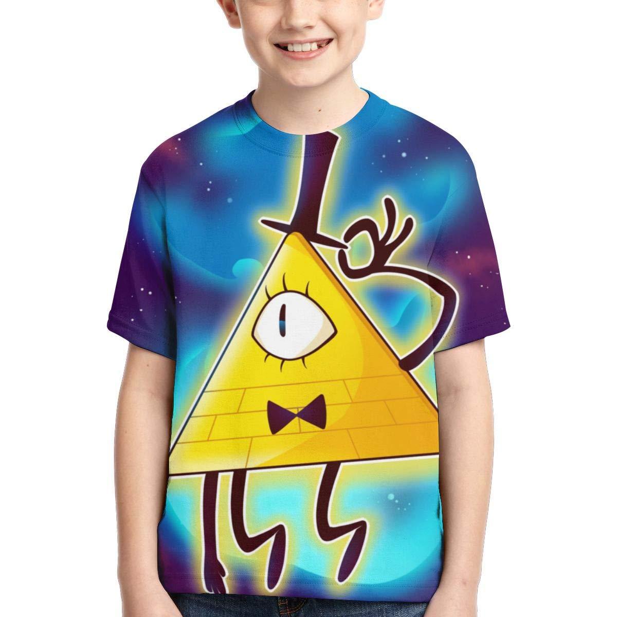Lemonationop Bill Cipher Gravity Falls 3D Full Printed Boy T-Shirt Black