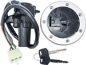 Ignition Switch Lock Key Fuel Gas Cap For Kawasaki Ninja 250 ZX6R ZX7R ZX9R ZZR400 ZXR400 ZZR600 ZXR750