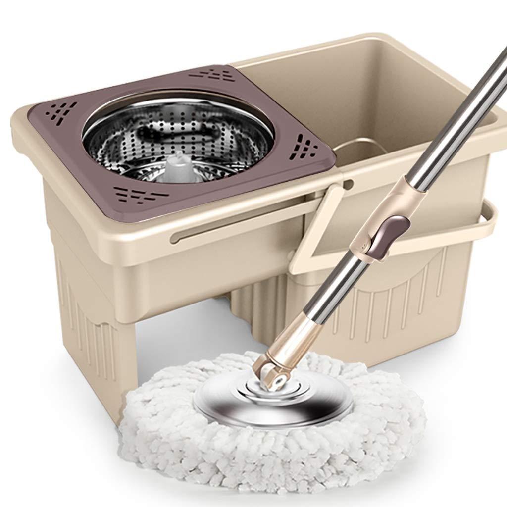 フロアモップワイパー 回転モップ、360°回転モップヘッド、ハンドフリー洗濯、洗濯と乾燥、(マイクロファイバー) B07L63KQMV