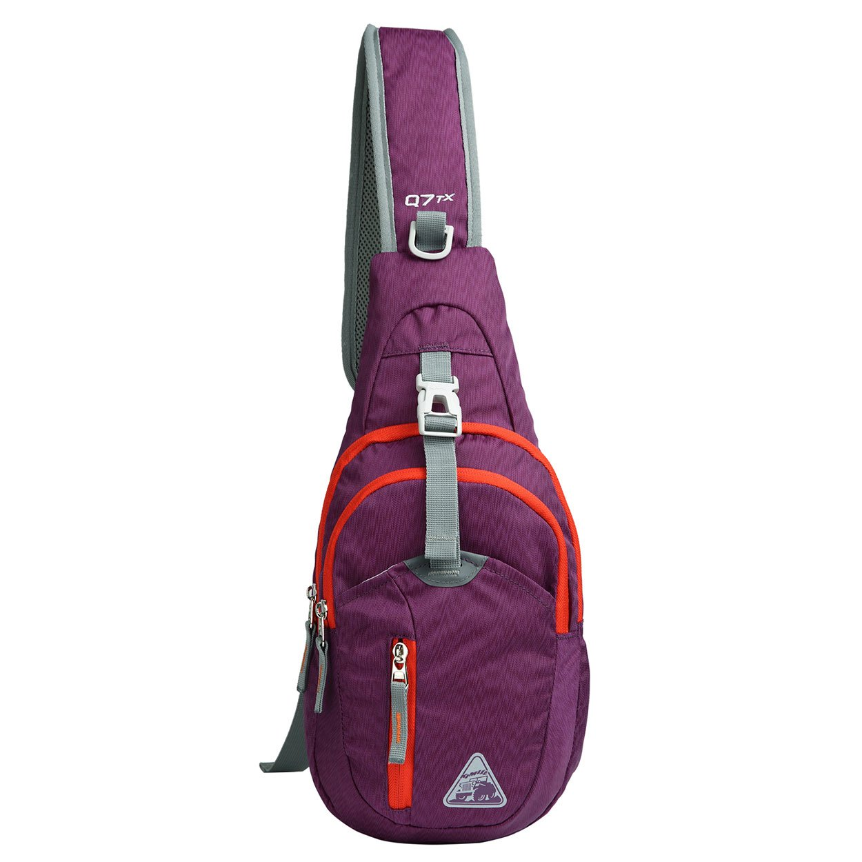 KIMLEE Purple Sling Bag Hiking Traveling Small Backpack Water Resistant Crossbody Chest Shoulder Bag Casual Daypack