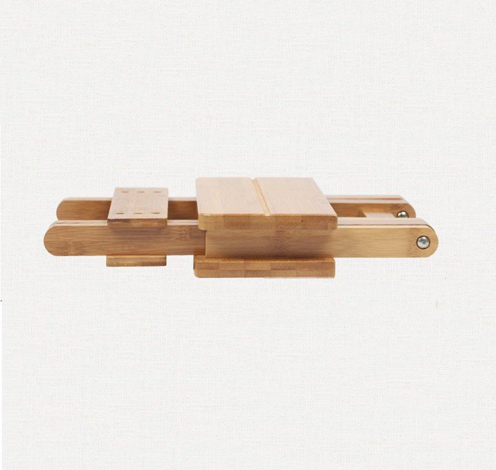 SJB Taburete Taburete SJB Plegable de bambú Taburete de Madera portátil del hogar Taburete de Ocio al Aire Libre Taburete de Pesca (Tamaño : 29  26  31.5cm) 407003