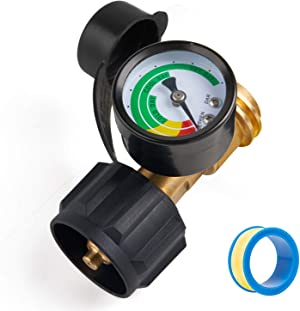 SHINESTAR Propane Tank Gauge Level Indicator for 5-40lb LP Tank and RV, BBQ Gas Grill, Heater, Turkey Fryer. Easy to Install