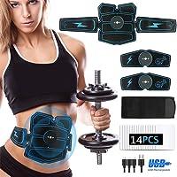 Dispositivo de Fitness y Entrenamiento Muscular de Peso para Hombres y Mujeres Loveka EMS Estimulante Muscular tonificador Muscular Abdominal Estimulante