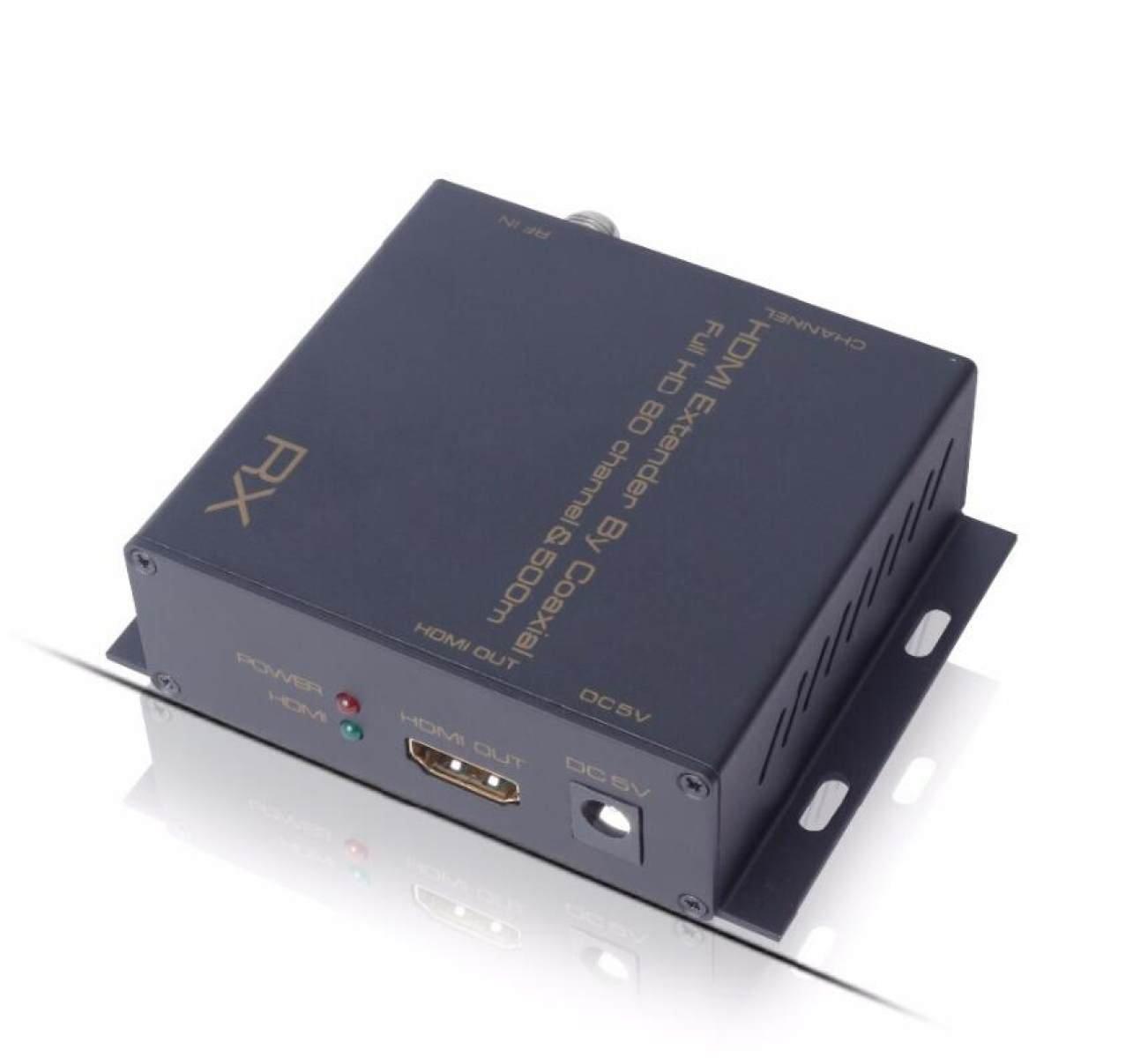 Extensor Coaxial Hdmi Hasta 500m Con Divisor Coaxial Por Cable Coaxial Con 80 Canales Full HD 1080P Ajustable: Amazon.es: Electrónica