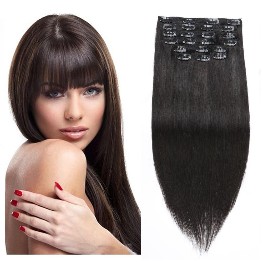 Best Hair Extensions Clip In Hair Extensions Full Head Re4u 24inch