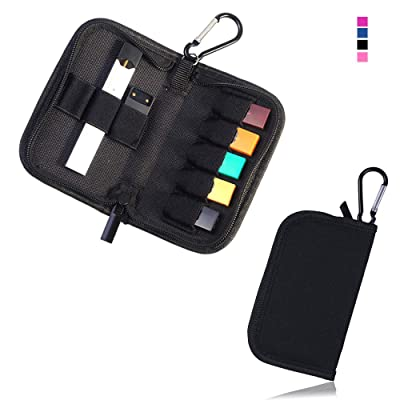 Carrying Case Wallet Holder for JUUL and Other Popular Vapes | Holds Vape, Pods and Charger | Fits in Pockets or Bags(Black): Home Audio & Theater