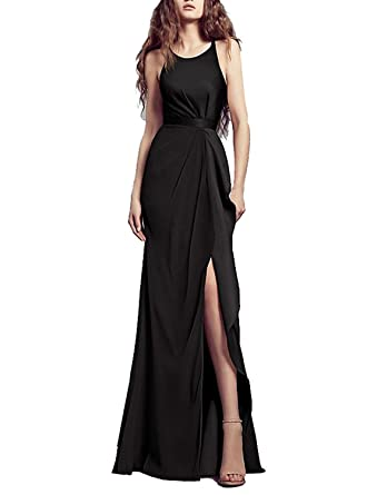 Babygirls Evening Dresses with Criss Cross Chiffon Off Shoulder Long Dress for Formal Occasions Black US