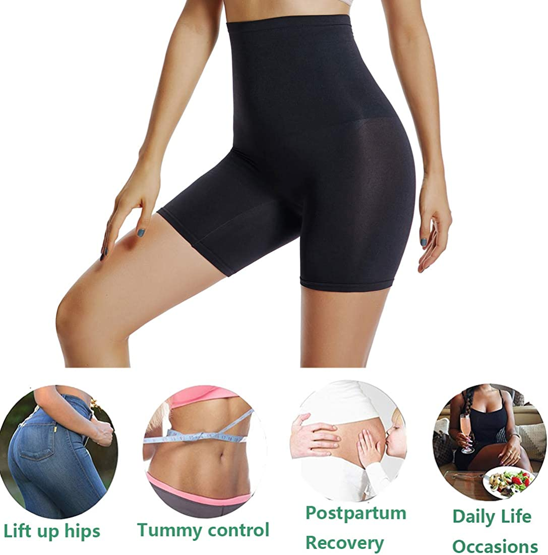 Joyshaper Womens High Waist Tummy Control Slip Shorts Thigh Slimmer Shorts Under Dress Shapewear
