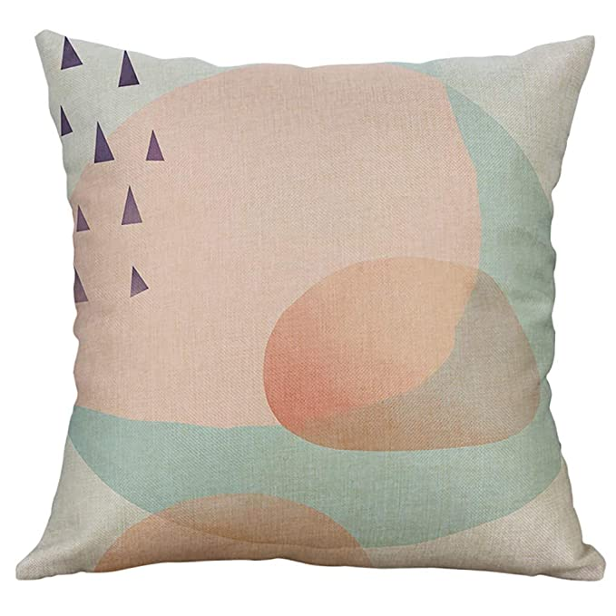 LEEDY Cushion Cover Creative 2019 Easter Simple Linen Funda ...