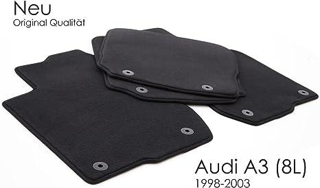 Kh Teile Fußmatten Passend Für A3 S3 8l Premium Qualität Autoteppiche Velours Schwarz 4 Teilig Auto