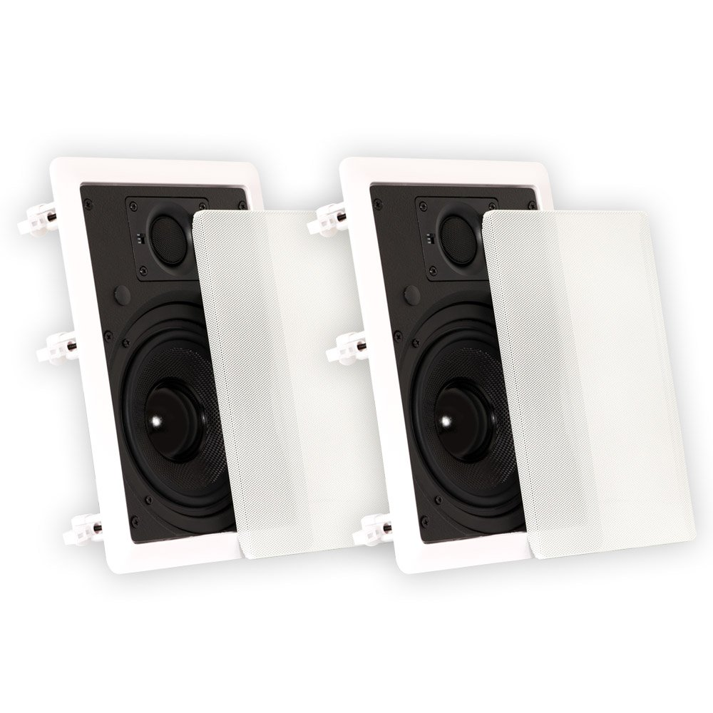 Theater Solutions TSS6W 6.5-Inch In-Wall Speakers, White