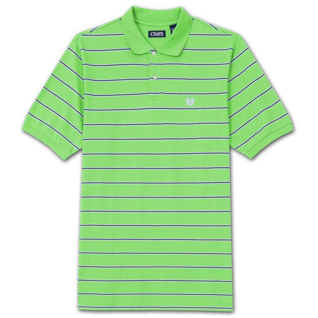 Chaps Big and Tall Pique Knit Stripe Polo Shirt