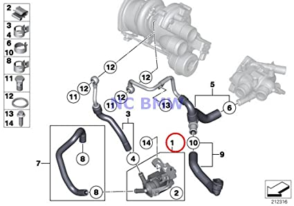 BMW Mini Genuine Turbocharger Auxiliary Water Pump Coop.S JCW Cooper S Coop.S