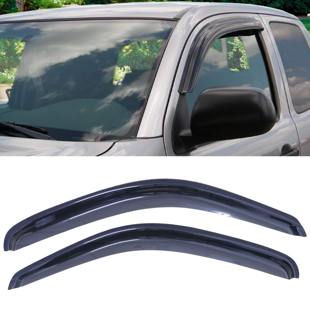 2pcs Sun//Rain Guard Vent Shade Window Visors Fit 95-04 Toyota Tacoma Ext//Std Cab