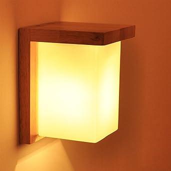 Aplique de pared Lámpara de pared Estilo escandinavo de madera de estilo simple para la sala de estar junto a la escalera Pasillo: Amazon.es: Iluminación