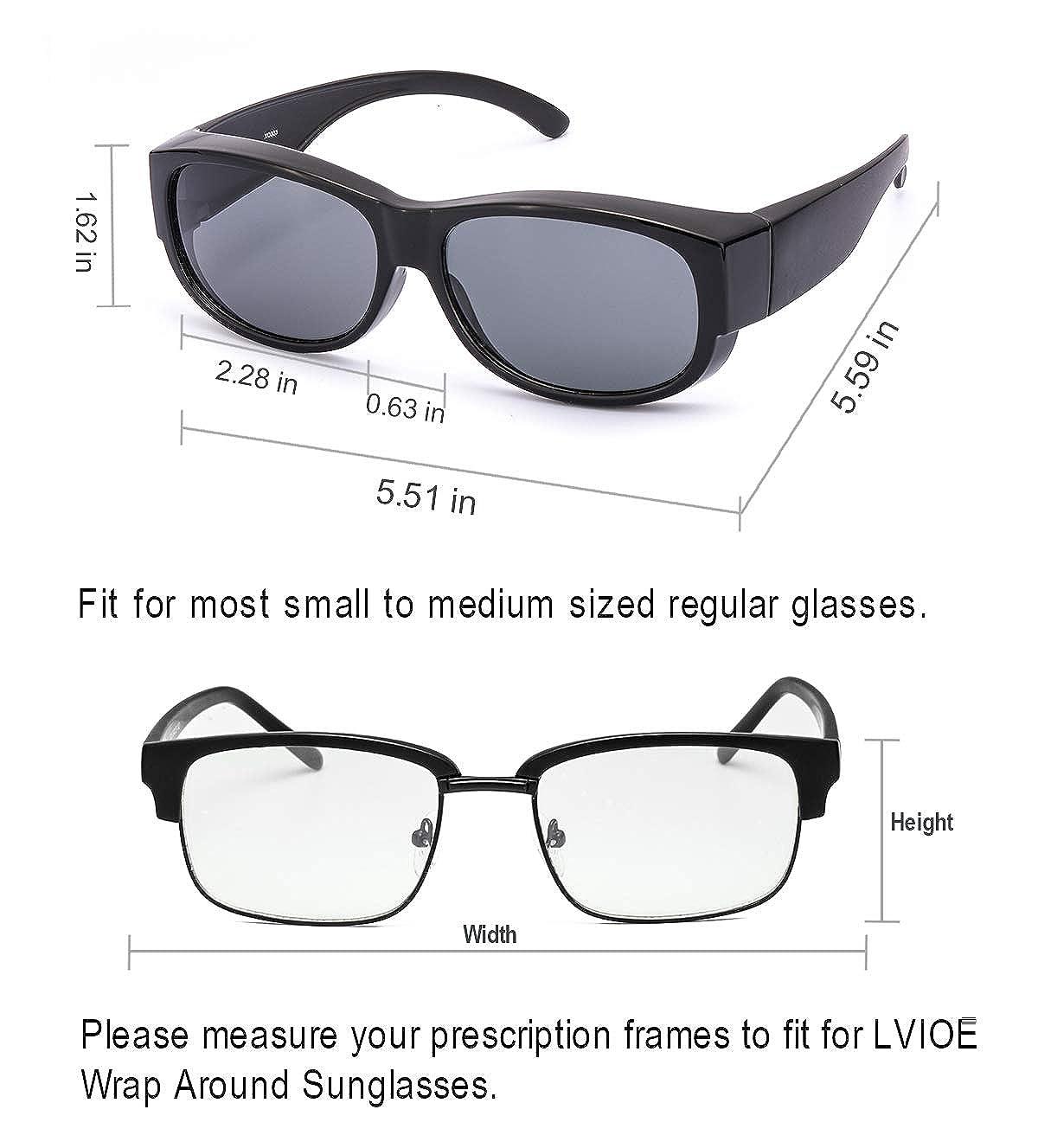 f87f4de0ad2 Amazon.com  LVIOE Fit Over Glasses Sunglasses with Polarized Lenses