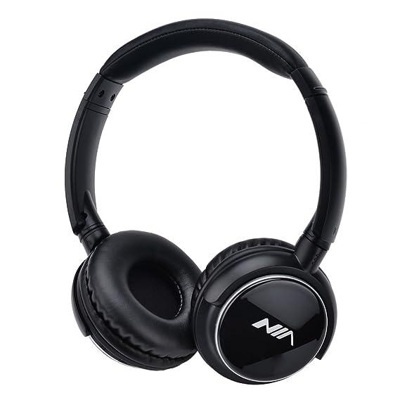 kingtu auriculares Bluetooth, Inalámbrico portátil música auriculares de diadema, estéreo Fashion auriculares plegable con