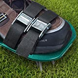 Lawn Aerator Spike Shoes - For Effectively Aerating Lawn Soil – Comes with 3 Adjustable Straps with Metallic Buckles – Universal Size that Fits all - For a Greener and Healthier Yard (Metal Buckle)