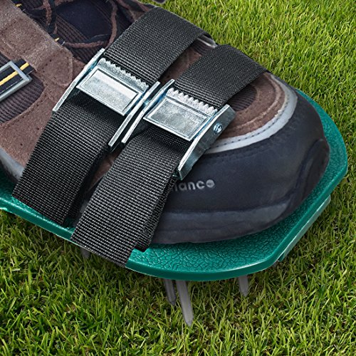 Lawn Aerator Spike Shoes – For Effectively Aerating Lawn Soil – Comes with 3 Adjustable Straps with Metallic Buckles – Universal Size that Fits all – For a Greener and Healthier Garden or Yard. by Abco Tech (Image #1)