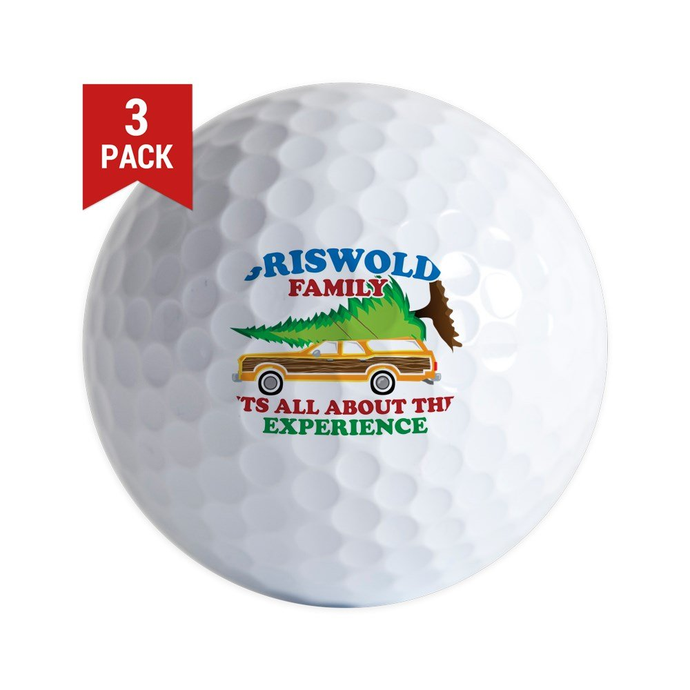 CafePress - Griswold, Funny Christmas Holiday Gifts. Its All A - Golf Balls (3-Pack), Unique Printed Golf Balls