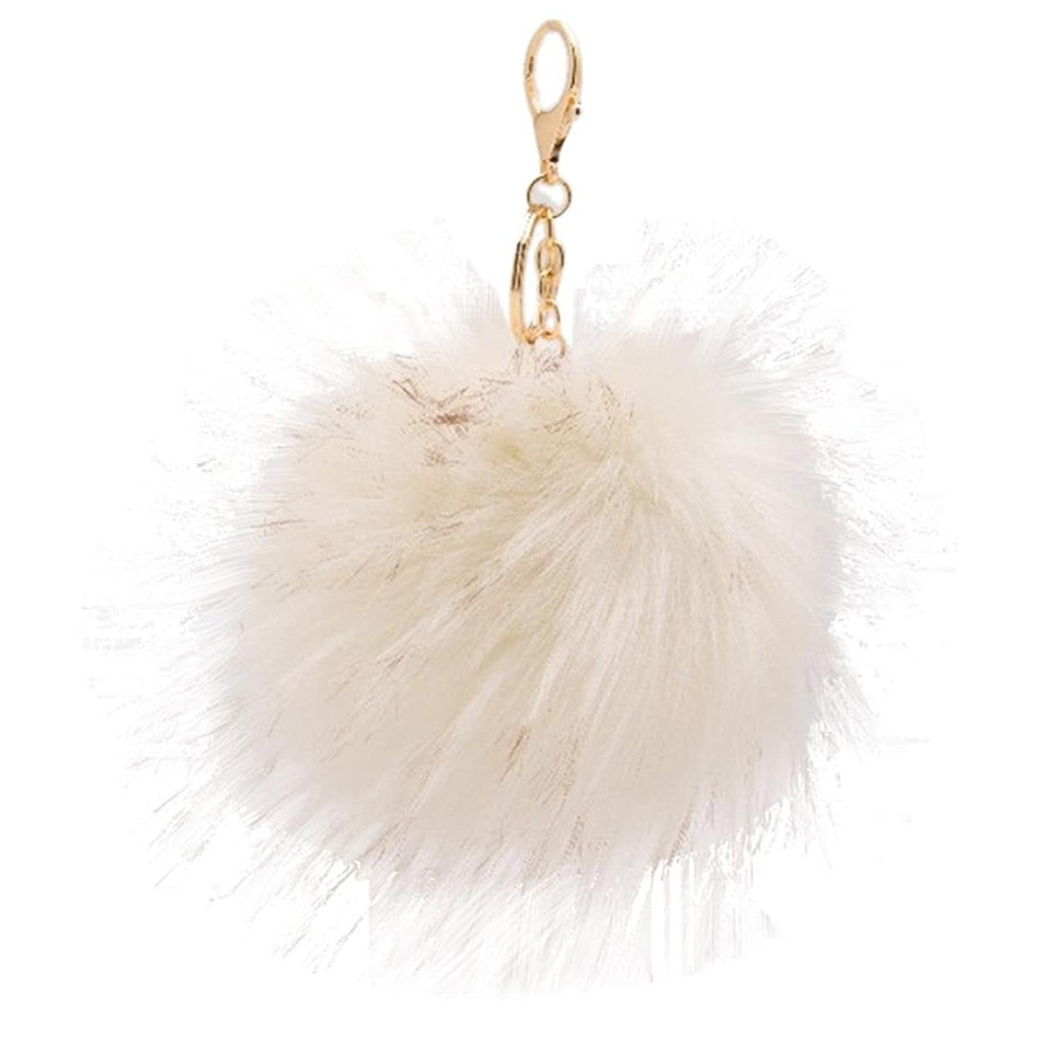 SUPPION Women's Raccoon Furry Ball Keychain Bag Car Charms Pendant