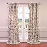 HPD HALF PRICE DRAPES Half Price Drapes BOCH-KC41-120 Blackout Curtain, Soliel Yellow Grey Review