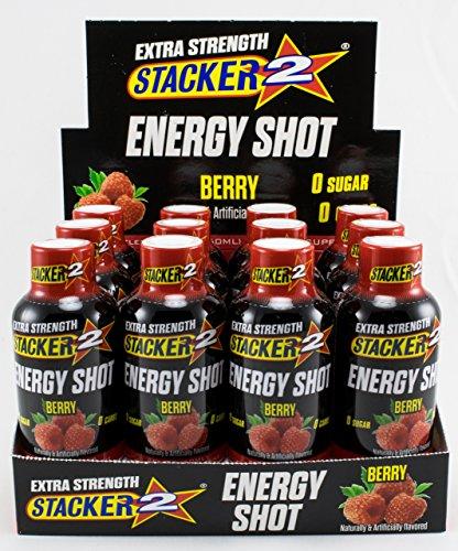 - Stacker 2 Extra Strength Energy Shots, Berry 12, Bottles 2 fl. oz (1)