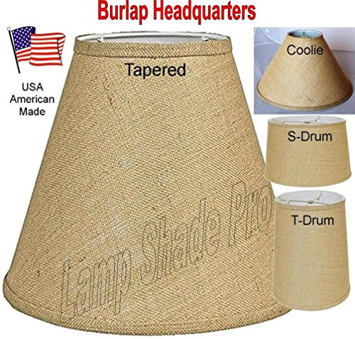Burlap Lamp Shades USA Made in America - - 24