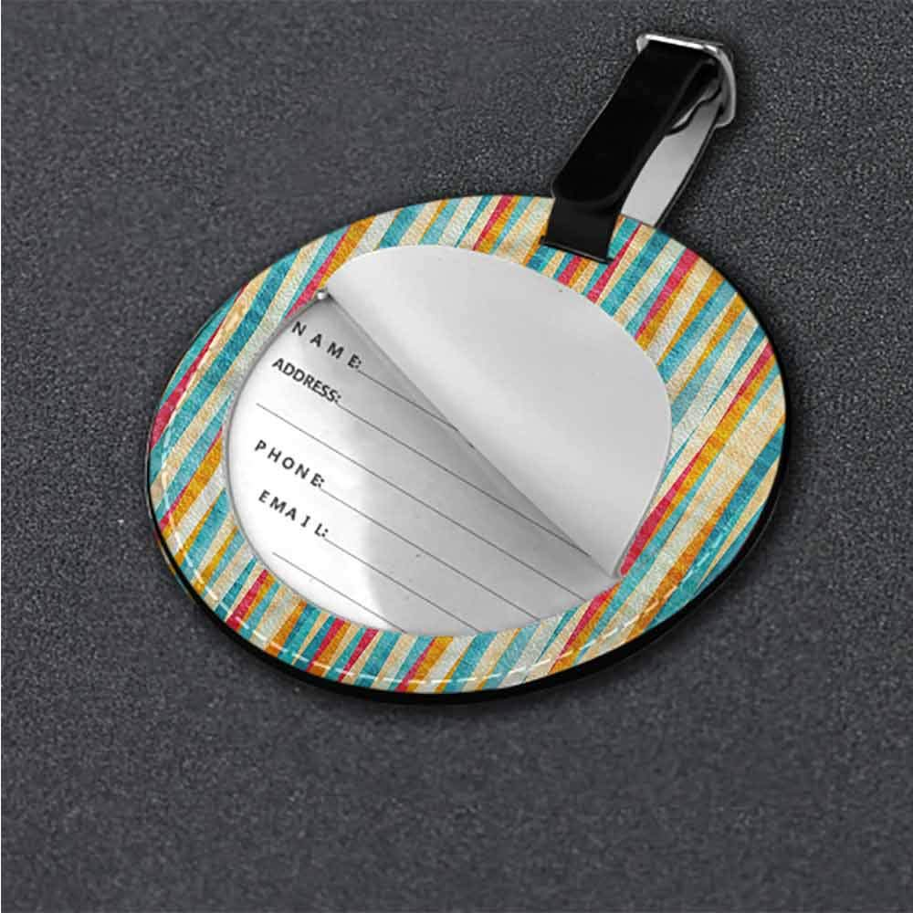 Boarding pass Abstract,Colorful Formless Lines Id Tag Suitcase Carry