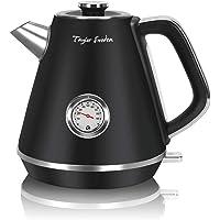 Taylor Swoden Aladin - Hervidor de agua eléctrico, 2200W, inalámbrico, diseño retro, 1,7 litros, acero inoxidable…