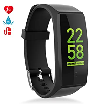 7b2093bfd5 最新版 スマートウオッチ 血圧計 心拍計 スマートブレスレット MINLUK 歩数計 活動量計