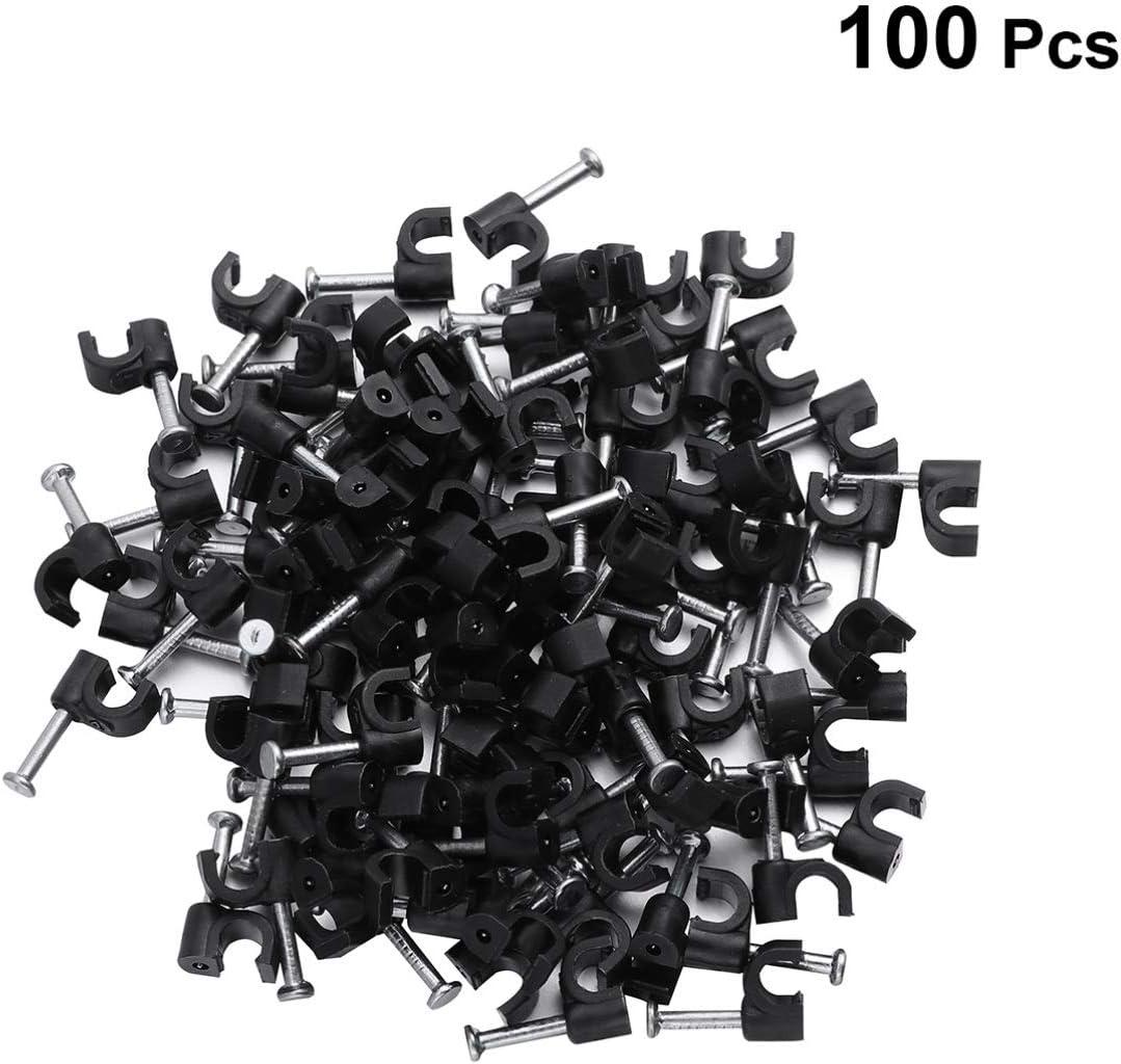 Doitool Lot de 100 attaches pour c/âbles coaxiaux 4 mm