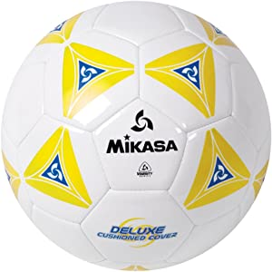 MIKASA Deluxe Cushioned Cover Club Soccer Ball