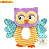 TOLOLO Owl Soft Rattle Toy for Over 0 Months
