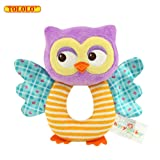 Amazon Price History for:TOLOLO Owl Soft Rattle Toy for Over 0 Months