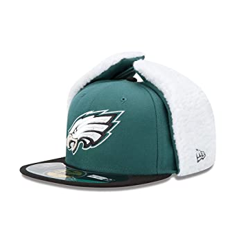 8f6a1584c4b 59FIFTY Philadelphia Eagles NFL  5950  Dog Ear Fitted Cap  Amazon.co ...