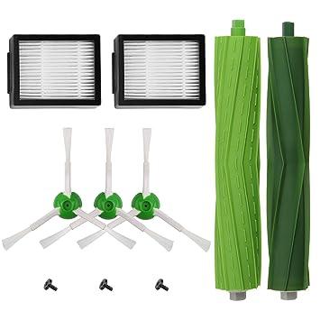 Kit de Accesorios para iRobot Roomba Recambios Roomba Series i7 i7+/i7 Plus E5 E6 E7 para Robot Aspirador de ABC life, 10in1