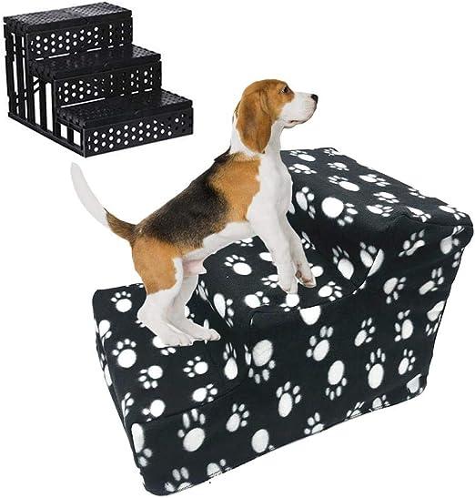 Williamly Escalera Plegable Desmontable para Mascotas, Escalera De 3 Escalones para Ayudar A Los Perros Y Gatos A Subir Al Sofá/Cama, Lavable Extraíble, 12 Pulgadas De Alto, 3 Colores: Amazon.es: Productos para