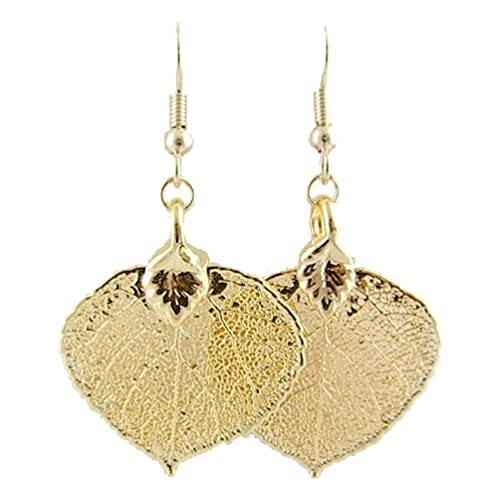 35fd9c319a Gold-Plated Aspen Leaf Earrings