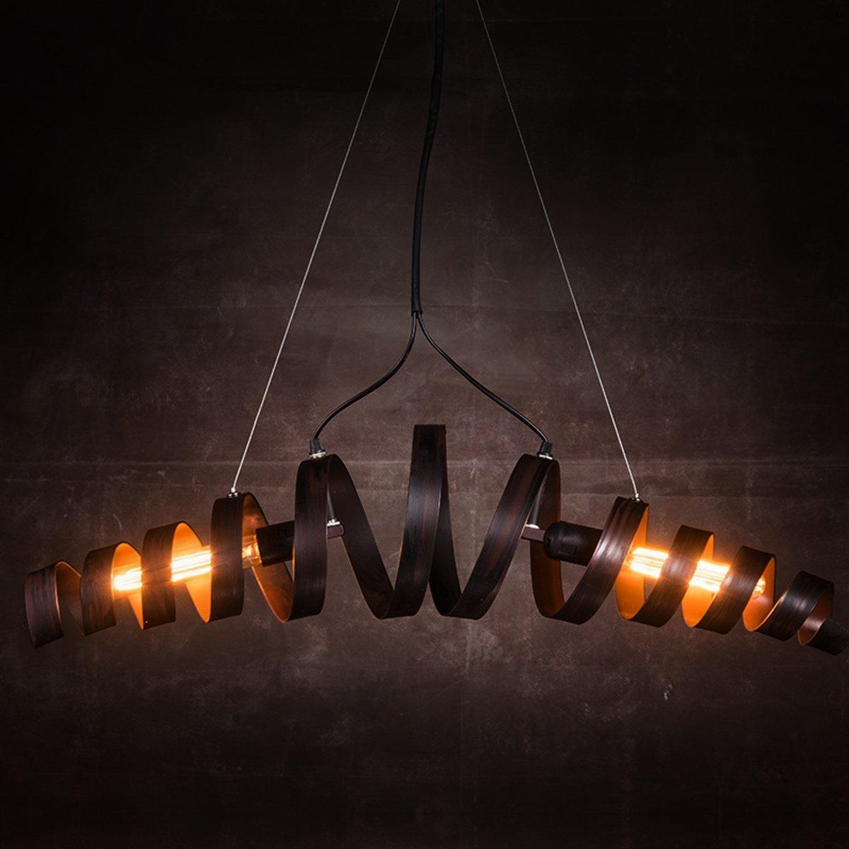 KJLARS Lámpara LED Lámpara de Techo Vintage Colgante de Luces E27 Bombilla, lámpara de estilo industrial Iluminación colgante Es Adecuado para Cocina, ...