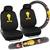 Tweety Bird Front Seat Covers & Steering Wheel Cover Gift Pack - Looney Tunes Gear