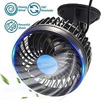HueLiv Ventilador de Coche, Ajustable Ventilador Eléctrico