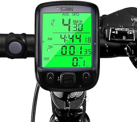Contachilometri Tachimetro Bici Computer Digitale 15 Funzioni Impermeabile Bike