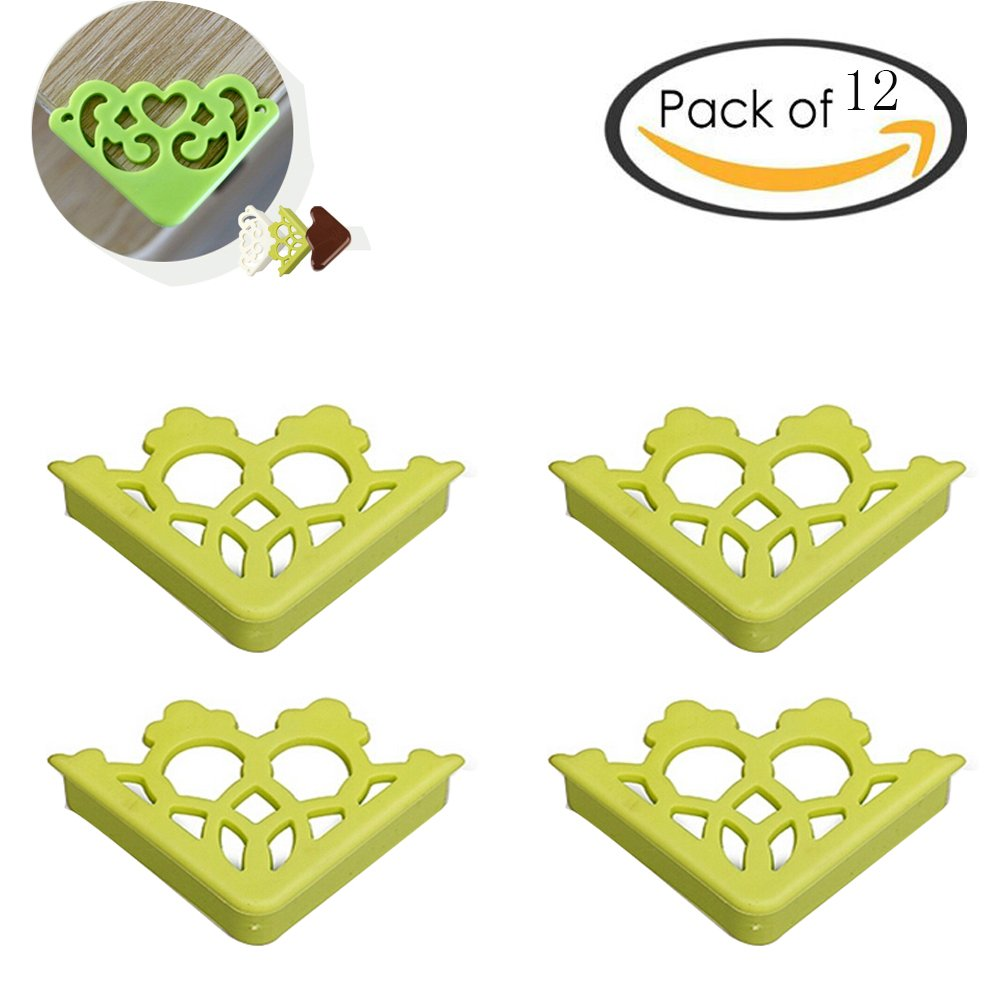 Amazon.com : Eforlike 12 Pieces of Anti-Collision Angle Table Corner Protectors Corner Guards for Kids Protection (brown) : Baby