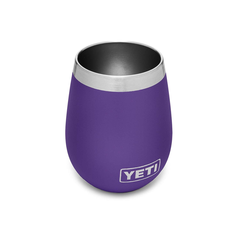 YETI Rambler 10 oz Stainless Steel Vacuum Insulated Wine Tumbler, Peak Purple by YETI
