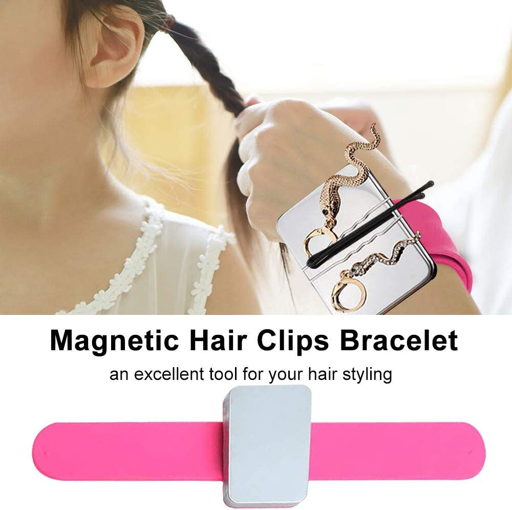 Pin Cushion Holder for Hair Clips Sewing 3 Pack Magnetic Wrist Sewing Pincushion Silicone Wrist Strap Bracelet (No pins)