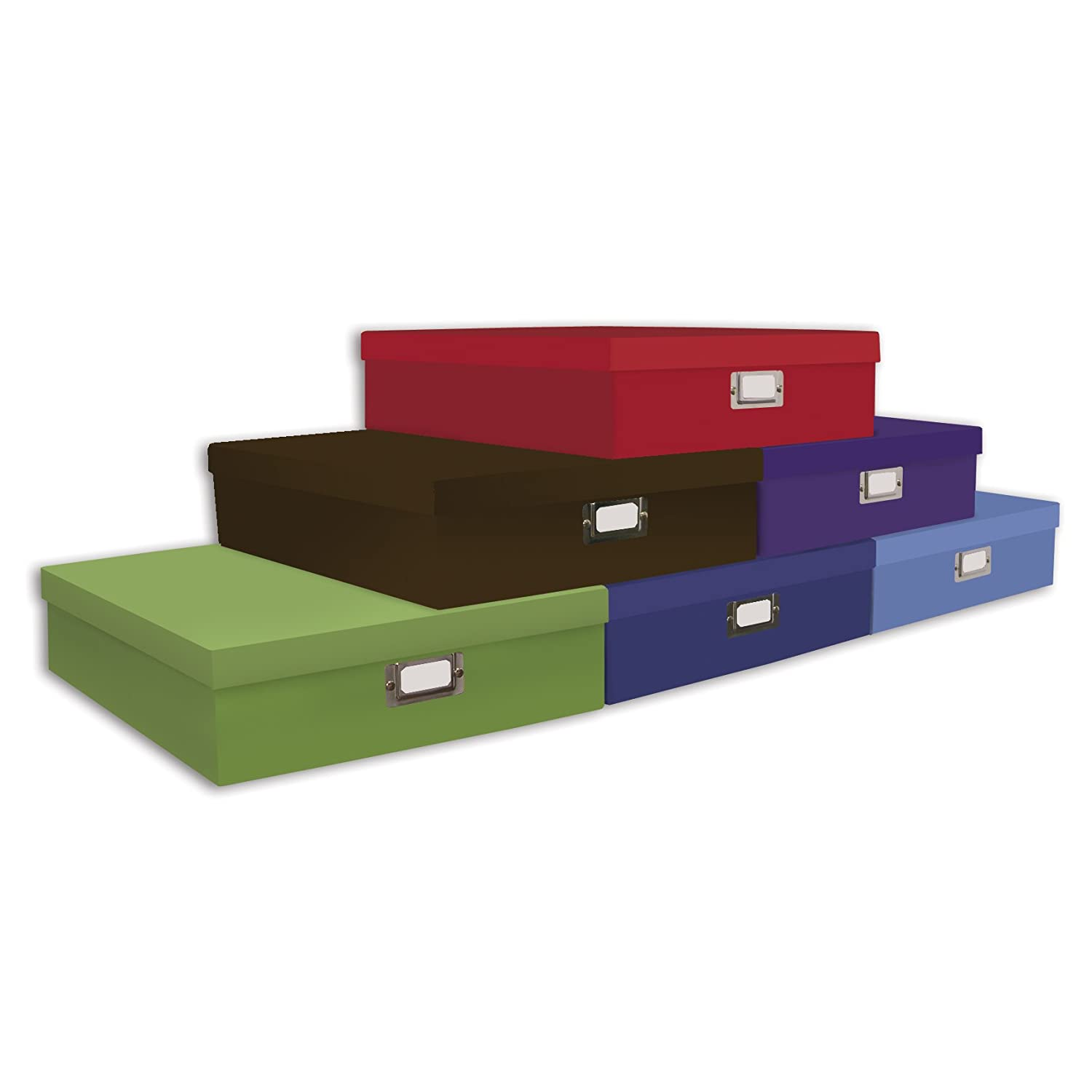 Pioneer 13-Inch by 15-Inch by 3-3/4-Inch Storage Box, Assorted Solids OB-12S