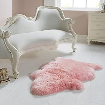 Pink Fur Rug Home Decor
