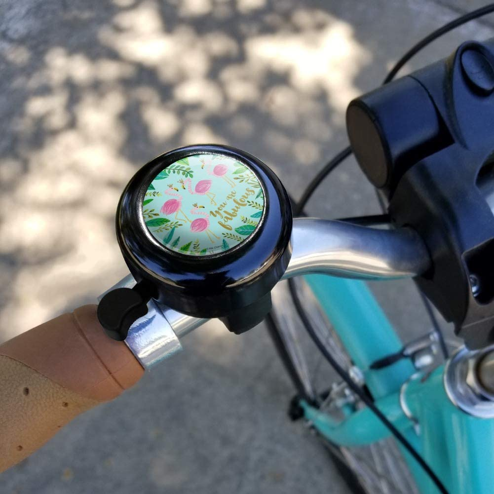 Flamingo Palm Trees Tropical Vacation Bicycle Handlebar Bike Bell