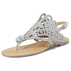 528d43c6a IDIFU Women s Retro Open Toe Ankle Strap Casual Flat Thong Sandals for  Beach - Casual Women s Shoes